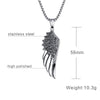 Image of Stainless Steel Wing Feather Jewelry Angel Necklace