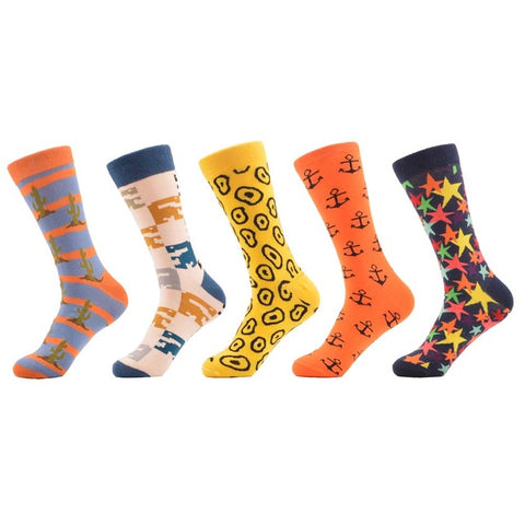5 Pairs Funky Crazy Cool Funny Socks