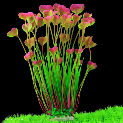15inch Artificial Plant Ornaments Aquarium Fish Tank Decorations