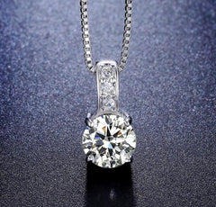 Classic Vintage CZ Grandma Jewelry Necklace