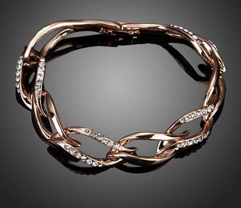 Rose Gold Crystal Sister Jewelry Bracelets