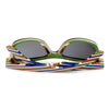 Image of Layered Skateboard Wooden Bamboo Sunglasses