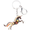 Image of Enamel Unicorn Keychain
