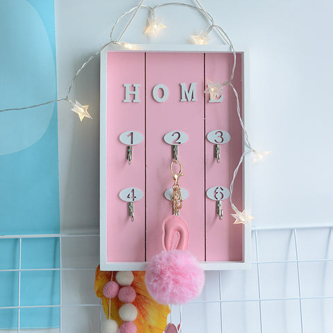 Retro Handmade Wood Decorative Wall Key Holder