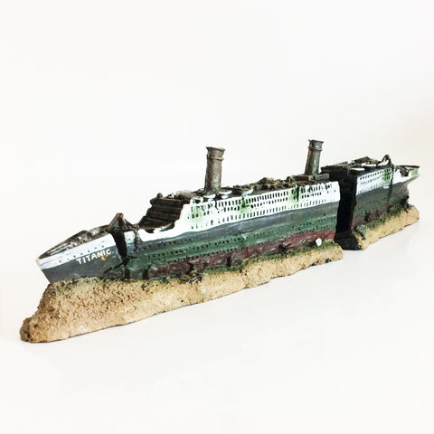 15inch Ship Sunken Wreck Ornaments Aquarium Fish Tank Decorations