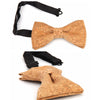 Image of Vintage Retro Cork Wood Bow Tie