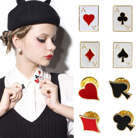 8Pcs Poker Badge Etsy Enamel Pins