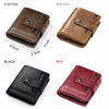 Image of Slim Genuine Leather Mens Zipper Wallet