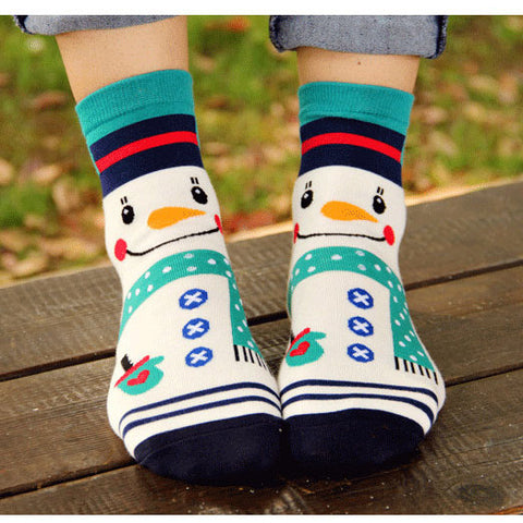 4 pairs Happy Holiday Funny Women Socks