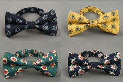 Vintage British Flower Floral Bow Tie