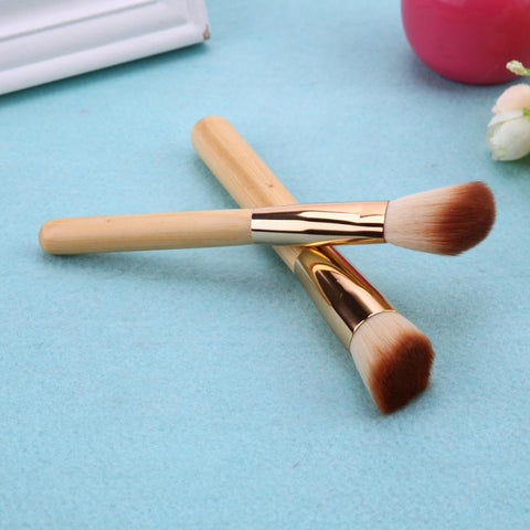 8Pcs Bamboo Handle Makeup Brushes Sets