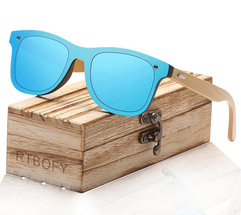 Handmade UV Wooden Bamboo Sunglasses