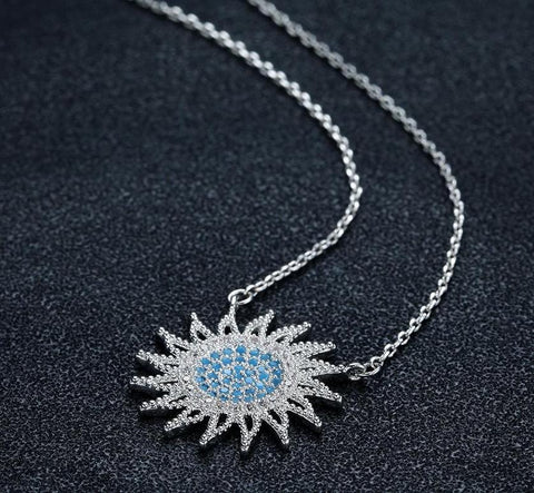 Charm Sun Blue Grandma Jewelry Necklace