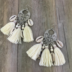 Chic Shell Tassel Bohemian Jewelry Boho Earrings