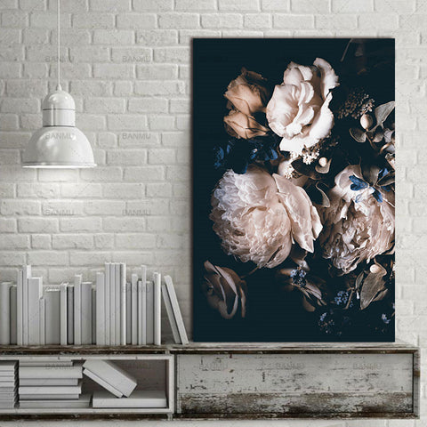 Modern Realism Floral Decor Canvas Wall Art