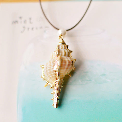Natural Beach Rope Jewelry Shell Necklace