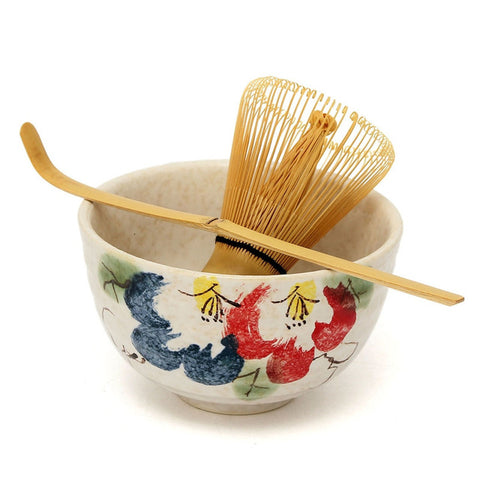 3Pcs Japanese Whisk Set Matcha Bowl