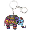 Image of Cute Acrylic Elephant Keychain