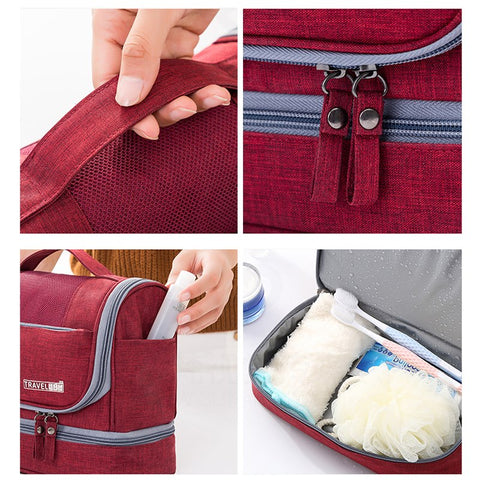 Waterproof Oxford Travel Cosmetic Hanging Toiletry Bag