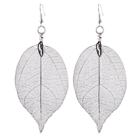 Natural Leaf Bohemian Jewelry Boho Earrings