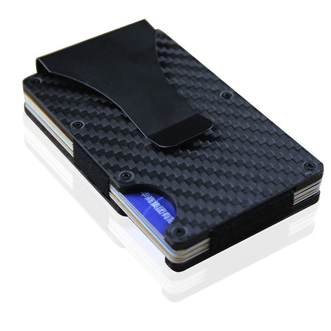 RFID Carbon Fiber Card Holder Slim Minimalist Wallet