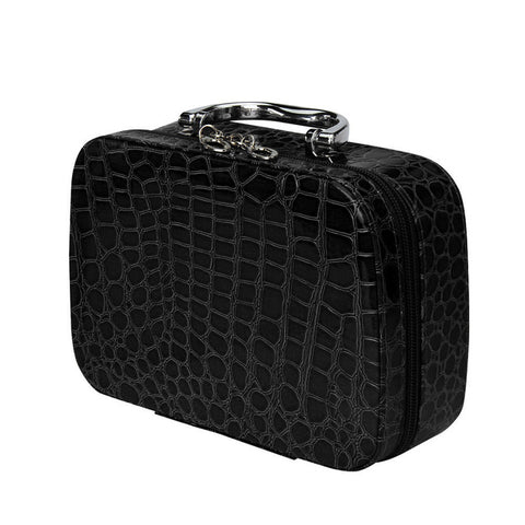 Large Leather Cosmetic Travel Makeup Bag