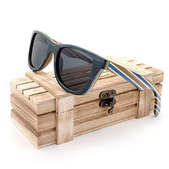 Layered Skateboard Wooden Bamboo Sunglasses