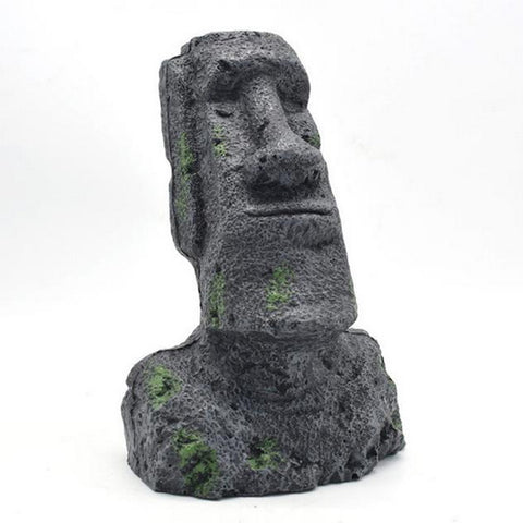 Easter Island Statue Ornaments Aquarium Fish Tank Decorations