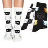 Image of 4 pairs Cute Cat Cartoon Funny Women Socks