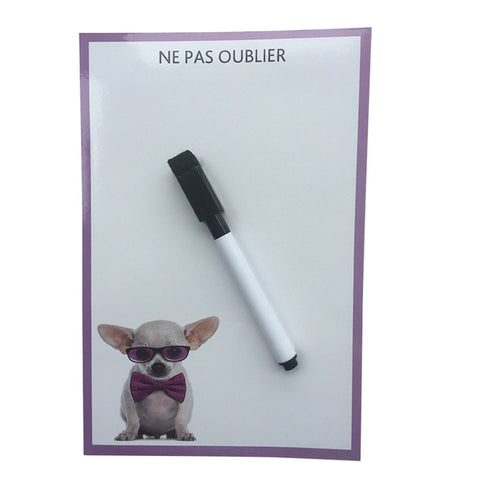 Cool Cute Dog Erase Message Board Fridge Refrigerator Magnets