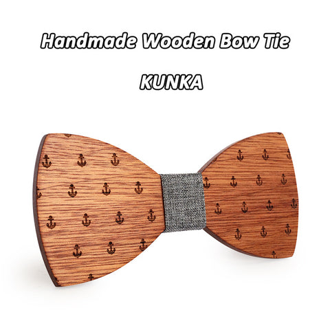 Classic Captain Wooden Bow Tie