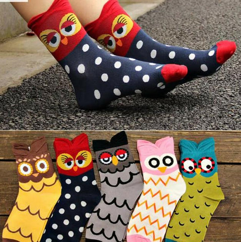 5 pairs Cute Animal Cartoon Funny Women Socks