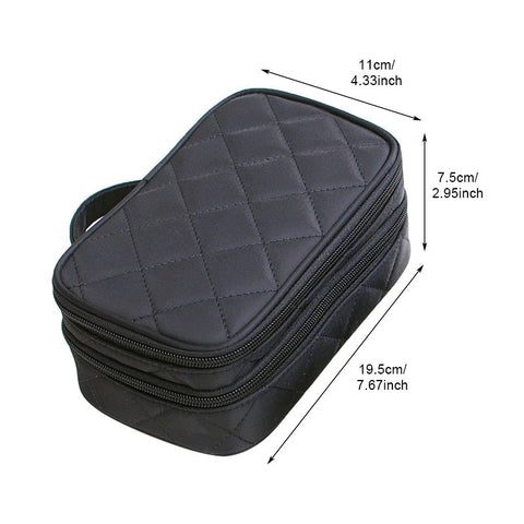 Double Layer Cosmetic Travel Makeup Bag