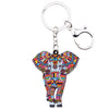 Image of Acrylic Jungle Elephant Keychain
