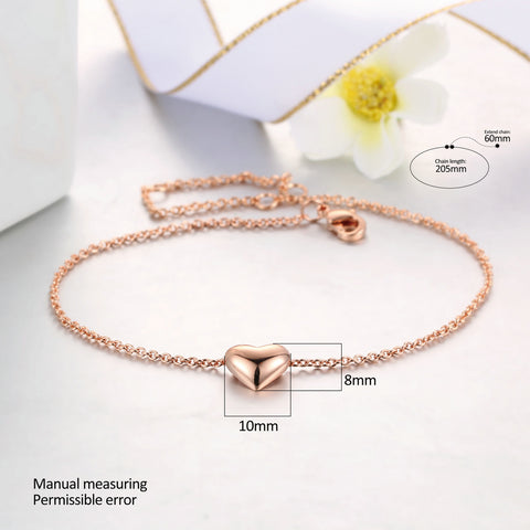 Heart Rose Gold Sister Jewelry Bracelets