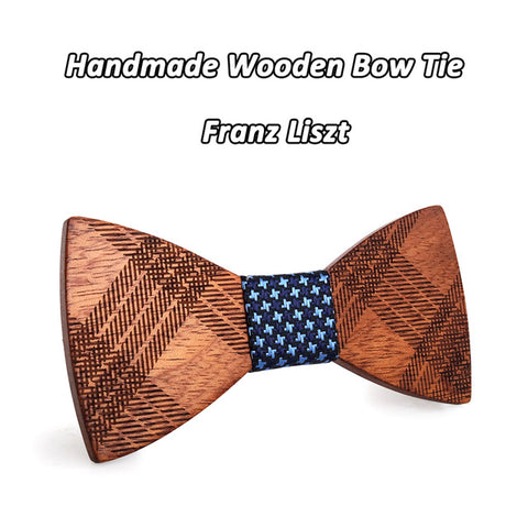 Butterfly Wedding Slim Wooden Bow Tie