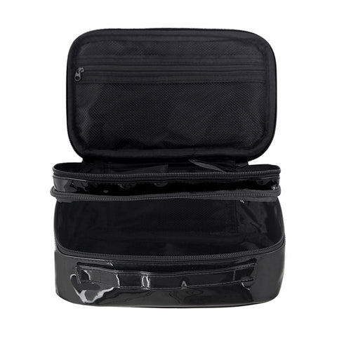 Double Layer PU Cosmetic Travel Makeup Bag