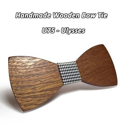 Style Handmade Wooden Bow Tie