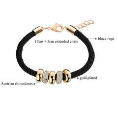 Rope Charm Gold Sister Jewelry Bracelets