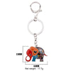 Image of Enamel Cartoon Elephant Keychain