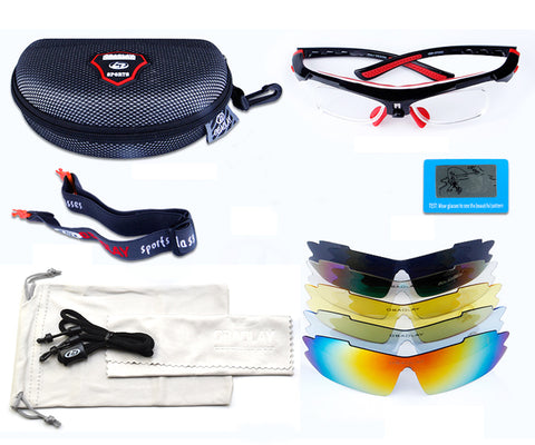 MTB 5Lens UV Polarized Cycling Glasses