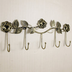 Rose European Style Decorative Wall Key Holder