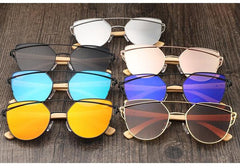 Cat Eye Fashion Wooden Bamboo Sunglasses
