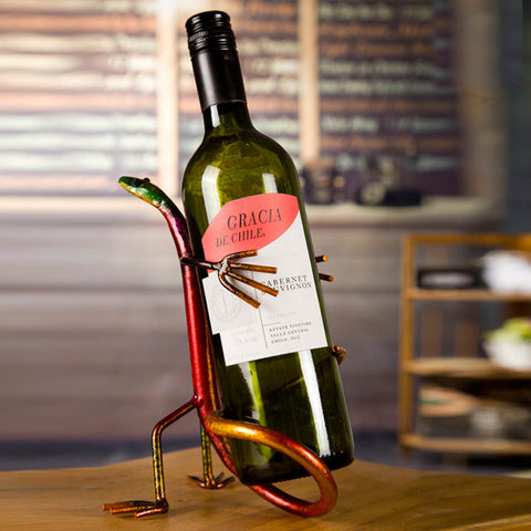 Gecko Wine Bottle Holder