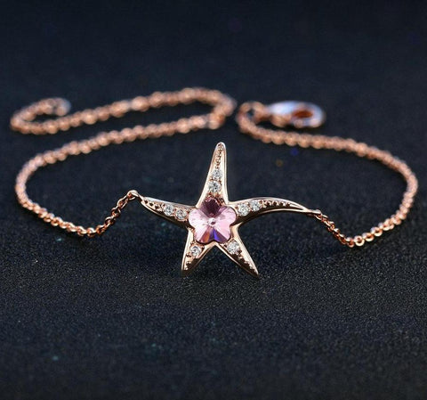 Starfish Rose Gold Sister Jewelry Bracelets
