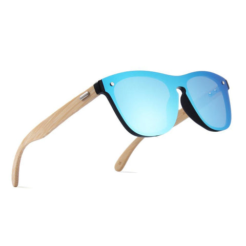 UV Mirror Wooden Bamboo Sunglasses
