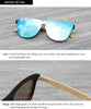 Image of UV Mirror Wooden Bamboo Sunglasses