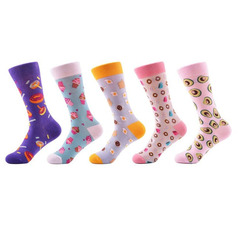 5 pairs Cool Crazy Funny Women Socks