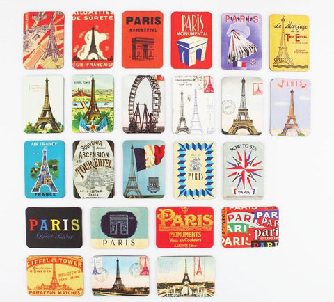 24Pcs Paris Eiffel Tower Decorative Fridge Refrigerator Magnets