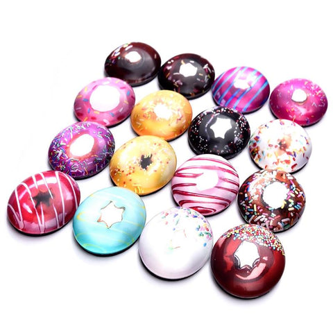 5Pcs Cute Doughnuts Decorative Fridge Refrigerator Magnets